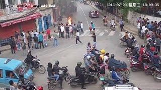 Student Gang war live video viral Trichandra collage, kathmandu