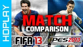FIFA 13 VS PES 2013 - Match Gameplay Comparison