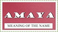 BABY NAME AMAYA- MEANING, FUN FACTS, HOROSCOPE