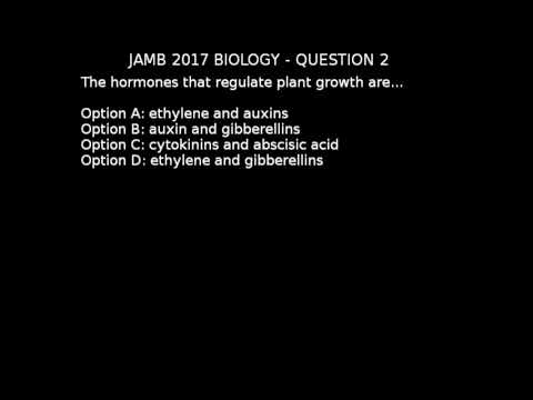 Q2 - JAMB Biology 2017 Past Questions and Answers