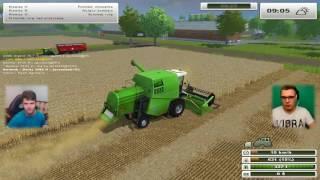 Dwa kombajny to robią robotę ;) - Farming Simulator 2013 WSPOMNIENIA #10