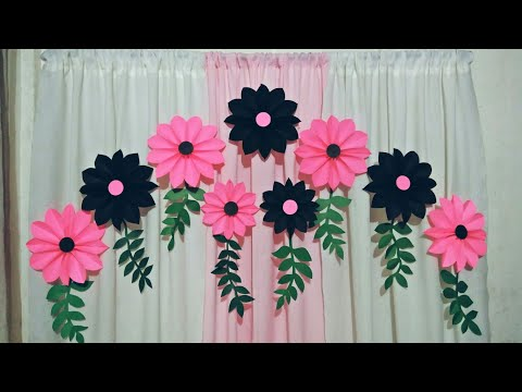 Easy Paper Flower Backdrop tutorial