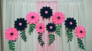 Easy Paper Flower Backdrop tutorial