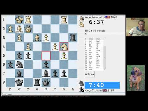 LIVE Rapid (Speed) Chess #139 vs encephalopathy (1878) - English: three knights system (A27)
