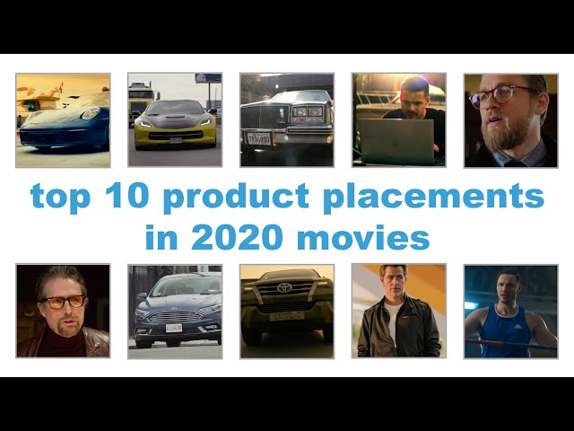 top 10 product placements in 2020 movies