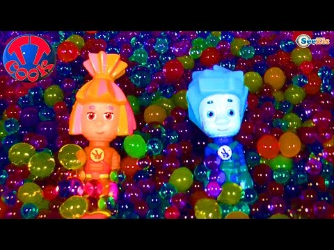 ✔ Фиксики. Девочка Ярослава выращивает шарики Орбиз – шарики гидрогель / Orbeez / Video for kids ✔