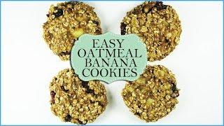 Easy Oatmeal Banana Cookies   Healthy Banana Oatmeal Cookies