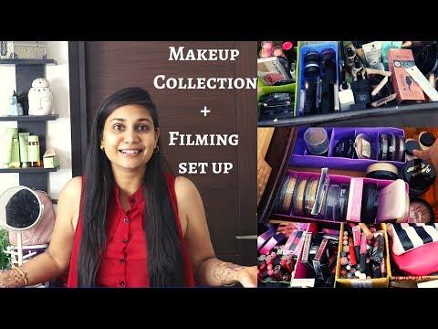 Makeup Collection 2019 + Filming Set Up | Nidhi Katiyar Makeup Collection 2019 thumbnail