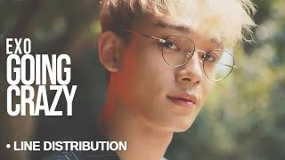 Video EXO (엑소) - Going Crazy  : Line Distribution (Color Coded) download MP3, 3GP, MP4, WEBM, AVI, FLV Agustus 2018