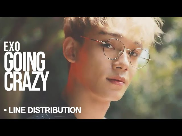 EXO (엑소) - Going Crazy  : Line Distribution (Color Coded)