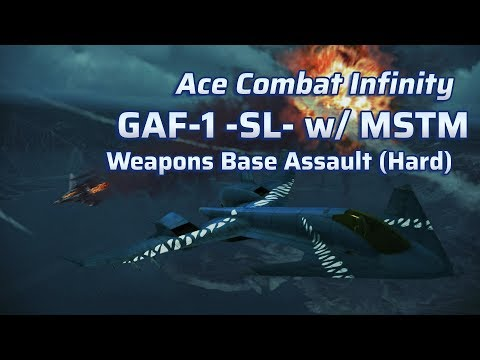 Ace Combat Infinity | Lv.13 GAF-1 -SL- | Lv.5 MSTM | Weapons Base Assault Hard