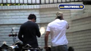 George Clooney Motorcycles to Chateau Marmont