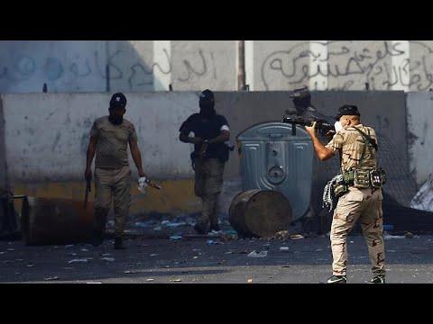 شاهد: يوميات الغضب العراقي.. اشتباكات وسط بغداد بين المتظاهرين وقوات الأمن …  - 12:59-2019 / 11 / 11
