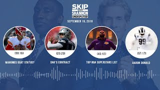 UNDISPUTED Audio Podcast (9.19.19) with Skip Bayless, Shannon Sharpe & Jenny Taft   UNDISPUTED