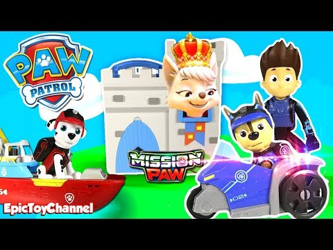 Paw Patrol Nickelodeon Mission Paw Sweetie Royal Rescue Captured by Paw Patrol Mission Paw Patroller