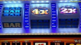 High Limit Slot/ PINBALL, KING CASH/ Double Four Times Pay $1 Slot @ San Manuel Casino アカフジ, 赤富士