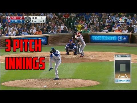 MLB   Three Pitch Innings (Compilation)