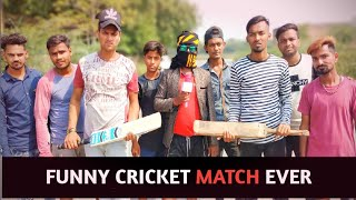 FUNNY CRICKET MATCH ||TYPES OF CRICKETERS IN CRICKET || FUNNY CRICKET MATCH EVER || SANJAY SK