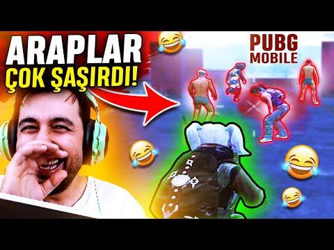 MEZARCI GÖREN ARAPLAR ÇOK ŞAŞIRDI !!! PUBG MOBILE SANHOK GAMEPLAY ( Bootcamp)