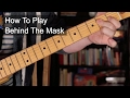 watch he video of 'Behind The Mask' Chords - Eric Clapton Guitar Lesson