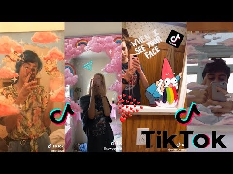 People Painting On Their Mirro is listed (or ranked) 2 on the list Cool TikTok Painting Process Videos