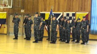 Ensign Christopher M. Payne, USN, Platoon Drill at Pass & Review, OCS Grad, 5/2/12