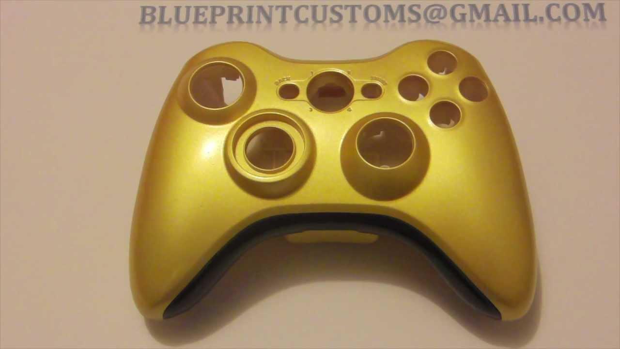 Xbox 360 Controller Gold Shell