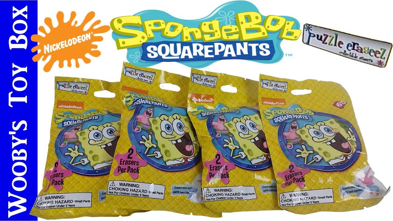 spongebob mystery puzzle eraseez patrick sandy spongebob gary