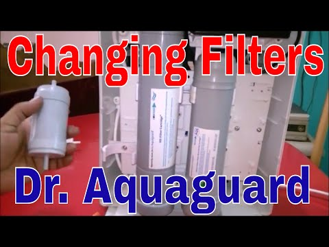 How To Change Compact Water Filters in Dr. Aquaguard Magna UV