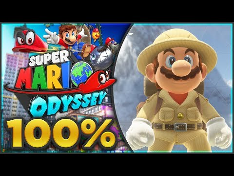 Super Mario Odyssey - Wooded Kingdom 100% All Moons & Coins! [🔴LIVE]