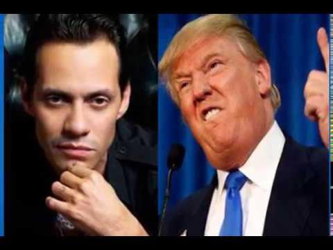 Marc Anthony llama horrible y corrupto a Donald Trump