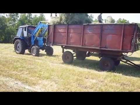 Заготовка сена на зиму  Мтз-80+косилка ксф-2.1 - YouTube