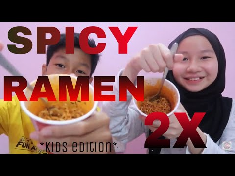SAMYANG 2X SPICY RAMEN NOODLE 🔥 AQIL CRIED?!
