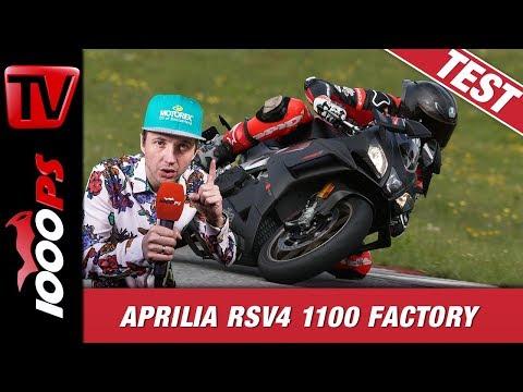 Aprilia RSV4 1100 Factory 2019 Trackday Test Rennstrecke Brünn