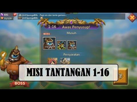 Kombinasi Hero MISI TANTANGAN 1-16 (Mission Challenge 1-16) _LORDS MOBILE