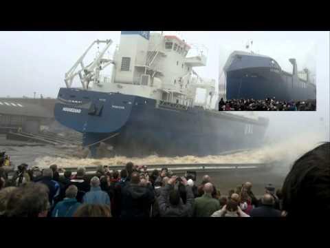 Tewaterlating United African Lines op 2-3-2012 bij Bodewes Shipyards