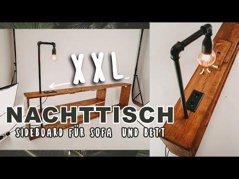 XXL Nachttisch DIY - Sideboard mit Lampe für Sofa & Bett selber bauen | EASY ALEX