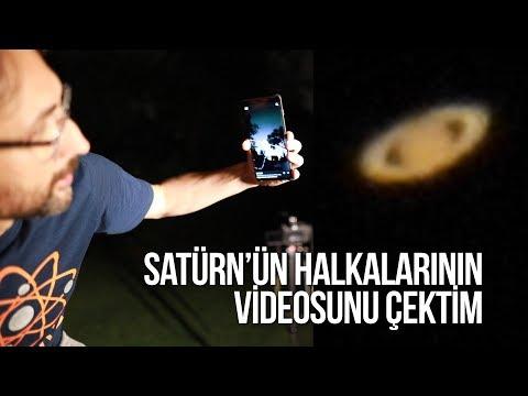 Satürn'ün halkalarının videosunu çektim!