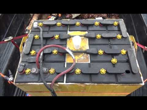 Servicing An Old Forklift Battery Pack For Off Grid Solar Home Use