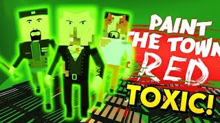 TOXIC ENEMIES IN THE SEWER LEVEL! (Paint the Town Red Funny Gameplay)