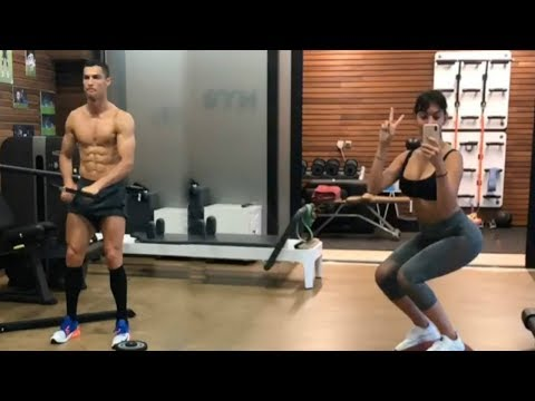 Тренировки девушки Криштиану Роналду 2018