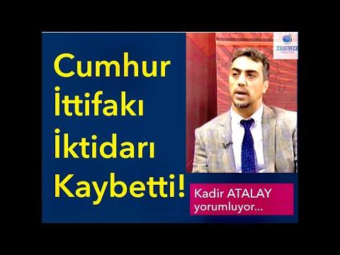 Cumhur İttifakı İktidarı Kaybetti! - Kadir Atalay'dan Flaş Anketler...