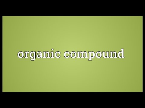 Organic compound Meaning