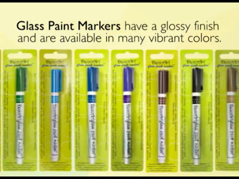 Decoart Glass Paint Marker Youtube