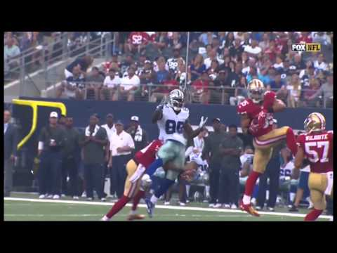 Dez Bryant Gets Hit By Antoine Bethea Funny Gif