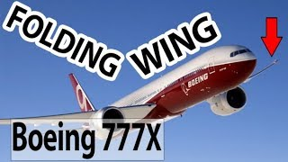 Why does the Boeing 777X fold it