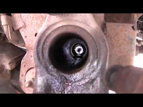 Replace right front axle seal, 1998 Dodge Ram 4X4, part 2