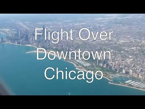 Landing at Chicago O'Hare airport
