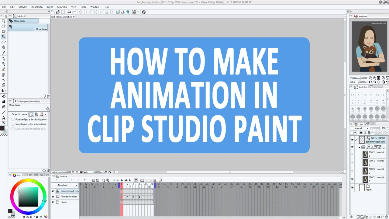 How To Make Simple Animation In Clip Studio Paint Ex (manga Studio 5)   Clip Studio Paint Tutorial  Youtube