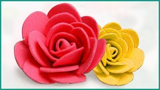 Easy Foam rose | Foam Sheet Flowers Making | Foam Sheet DIY Craft Idea By Niftoon